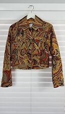 MOSCHINO Jeans sz 10 (or 6 us ) womens Print Jacket - Rare - vintage [#3821]