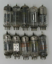 Glass Vacuum Tubes TV Radio Steampunk Lot of 10 Arts Crafts Sylvania RCA Medium