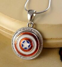 CAPTAIN AMERICA metal snap button pendant necklace gifts for women girls jewelry