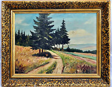 """Early Oil Painting Listed Artist Moser Signed, Painting 9""""X6 34"""""""