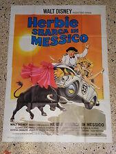 Y3 MANIFESTO ORIGINALE 4F DISNEY AUTO CAR VOLKSWAGEN HERBIE MESSICO MAGGIOLINO