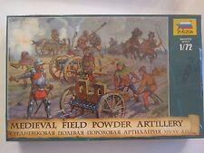 Zvezda 1/72 Medieval Field Powder Artillery XIV-XV A.D. Soft Plastic Figures