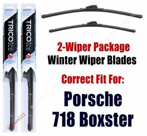 WINTER Wipers 2-Pack fits 2017+ Porsche 718 Boxster - 35220/210