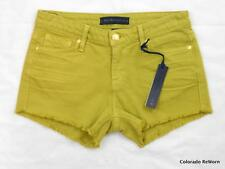 New Juicy Couture Sz 24 Denim Stretch Tennis Ball Yellow Cutoff Shorts