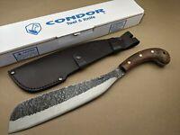 "Condor Tool & Knife - Village Parang Machete - 12"" Blade - Walnut Wood Handle"