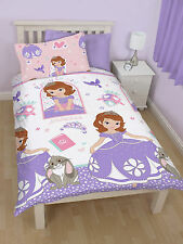 DISNEY - SOFIA THE FIRST ACADEMY SINGLE DUVET COVER SET - REVERSIBLE