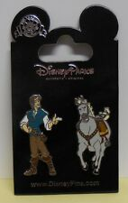 Disney Pin Flynn & Maximus From The Movie Tangled Set of 2 Pins