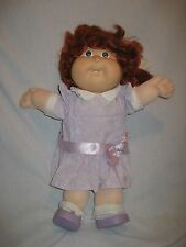 Vintage Cabbage Patch Kids Doll Red Hair Green Eyes Girl In CPK Clothes