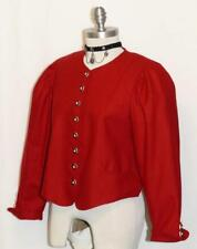 SALZBURGER / RED ~ WOOL Austria Women Hunting Riding Dress Suit JACKET Eu 40 6 S