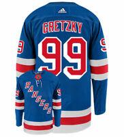 Wayne Gretzky New York Rangers Adidas Authentic Home NHL Vintage Hockey Jersey
