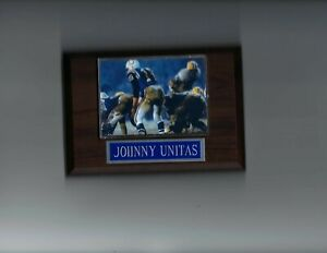 JOHNNY UNITAS PLAQUE BALTIMORE COLTS FOOTBALL NFL GAME ACTION