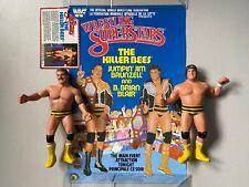 WWF LJN WRESTLING SUPERSTARS KILLER BEES BLAIR BRUNZELL Figures Poster Card WWE