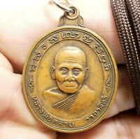 Genuine Phra Pirap Holy Giant Coin Lp.Aueng Thai Amulet Protect life from harm