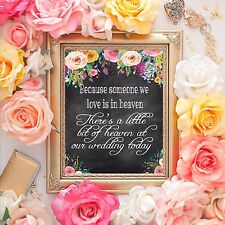Wedding Table Sign - In Loving Memory Wedding Sign 8x10