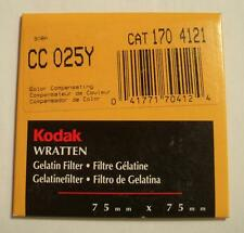 """KODAK COLOR COMPENSATING FILTER NO. CC025Y 3"""" or 75mm Square New Old Stock"""