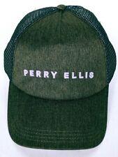 Perry Ellis Men's Gray Black Trucker Hat Cap Mesh Snapback