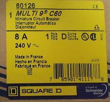 SQUARE D MERLIN GERIN Multi 9 C60 Single Pole 8 Amp Mini Circuit Breaker 60126