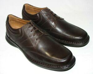 Clarks Men's Kempton Lace Oxford, Leather Upper, Dark Brown, 11 W, New
