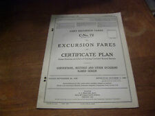 Sept. 29, 1926 Excursion Tariff Certificate Plan Conventions, Meetings, etc