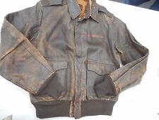 WW2 A-2 Leather Flight Jacket  Size 40 MFG J.A. Dubow Chicago ILL