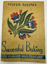 Vintage 1937 Successful Baking Tested Recipes Arm & Hammer Cookbook
