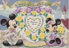 Grafico PUNTO CROCE DISNEY-TOPOLINO & MINNIE'S Wedding 7a-Flowerpower 37-uk