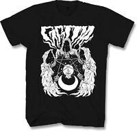 Mens T Shirt XL Metal Gothic Horror Occult Reaper Pentagram Skull