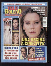 TELE BOLERO 28/2003 SABATINI WALTER NUDO FERILLI BOLLYWOOD LISA RAY GRACY SINGH