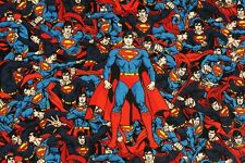Superman DC Comics Cotton Fabric made in Korea by the Yard