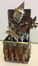 Vintage Tin Metal Sculpture Art Jack In The Box