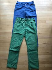 Lot of two CFL colored jeans - blue and green, size US 16-18 / EUR 182