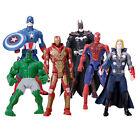 6 pc The Avengers Action Figure Super Hero Toys Thor Hulk Ironman Spider-man