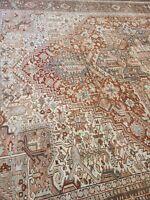 "Estate sale rug authentic handwoven herize circa 1920s size 10'9""×15' soft color"