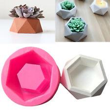 Diamond Shaped Flower Pot Vase Mold Cement Planter Succulent Plant Silicone Mold