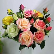 Head Real Touch Roses Artificial Flowers Home Wedding Marriage Decorative Bloomi