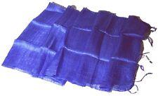 BLAZER SCHAL venezianisch blau 100 % Rohseide 35 x 160 cm handmade silk blue