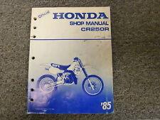 1985 Honda Model CR250R Dirt Bike Motorcycle Shop Service Repair Manual Book