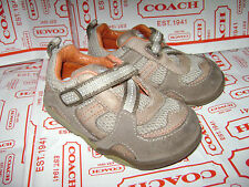 STRIDE RITE PRODIGY BABY BOYS SHOES SNEAKERS size 5  IVORY BLUE BROWN VERY CUTE
