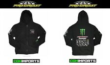 PRO CIRCUIT 2019 MONSTER ENERGY TEAM ZIP UP HOODY BLACK CASUAL APPAREL S-XXL MX