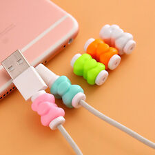 10pc Bowknot Earphones Cover USB Cable Data Line Protection #K for Phone Android
