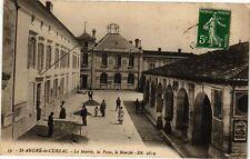 CPA  St-André-de-Cubzac - La Mairie,la Poste,le Marché    (229822)