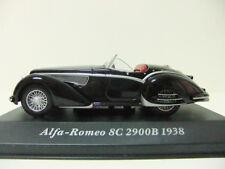 ALFA ROMEO 8C 2900B 1938 CABRIOLET BLACK NOIR 1/43 ROAD IXO ALTAYA ROADSTER