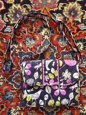 NWOT Vera Bradley Nightingale Rachel Crossbody Purse Handbag Navy Purple Multi