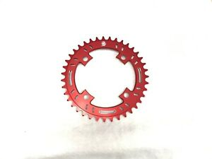 Snap BMX Products S4 104mm 4 bolt Chainring - 39t Red