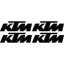 Kit 4 Stickers moto KTM Haute Résistance Qualité Premium NOIR 85 SX 17/14