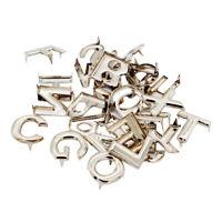 26 Stück Englisch Buchstabe A Z Metall Nieten für Gürtel Taschen Garment Art