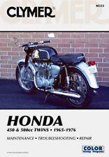 CLYMER REPAIR MANUAL Fits: Honda CB500T Twin DOHC,CB450K,CL450K Scrambler