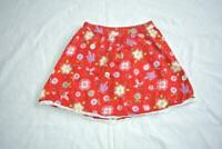 Hanna Andersson Skirt Girls size 130 -  8 Floral Red