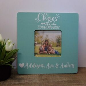 Chaos Coordinator personalized picture frame, mother's day gift, mom gift