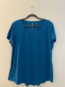 Lucy Activewear Top Scoop Neck Short Sleeve T-Shirt Women's Size  XL